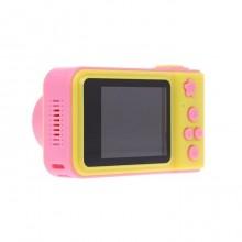 Camera foto pentru copii galben cu roz + card de memorie 8 GB