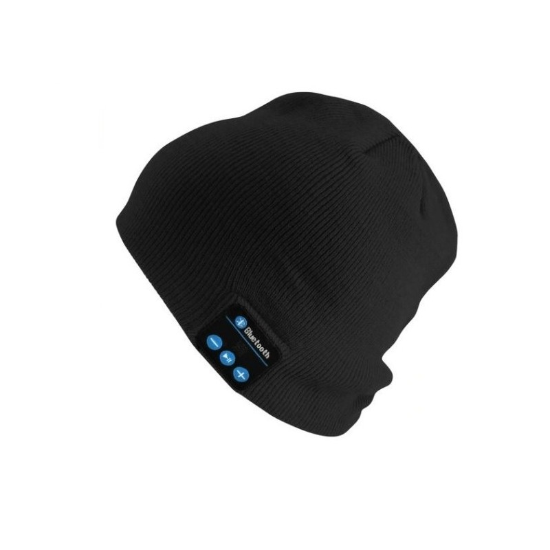 Caciula cu casti si microfon intergrat, Bluetooth, negru